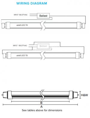 Forest Lighting Universal LED T8 Wiring Diagram Premier Lighting