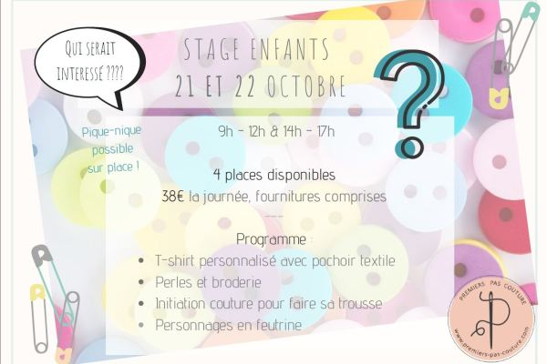 Atelier enfant du 21 et 22 octobre