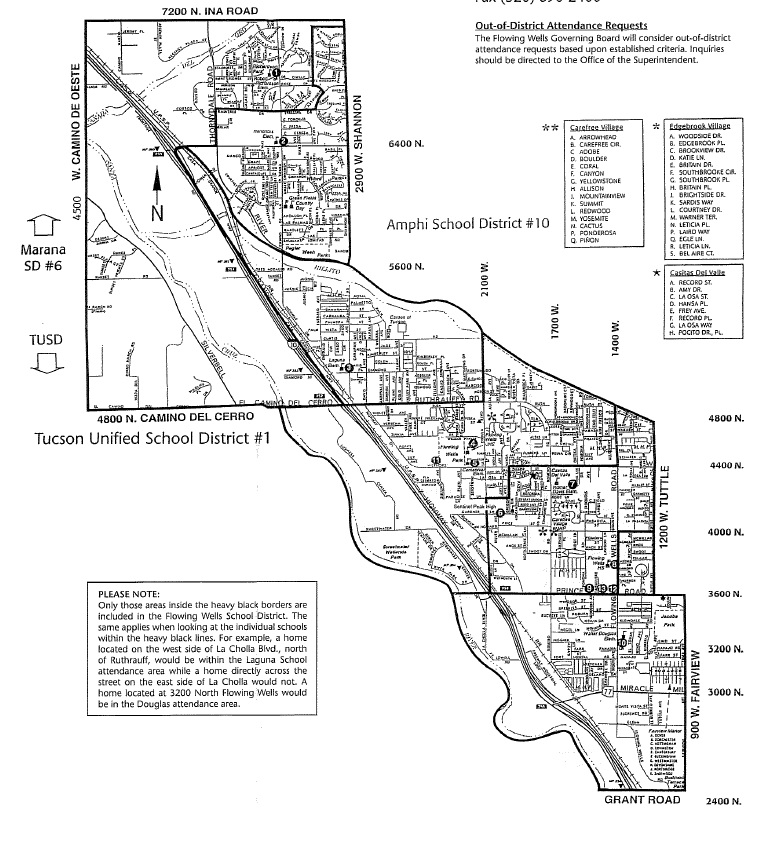 FLOWING WELLS SCHOOL DISTRICT Boundary Map