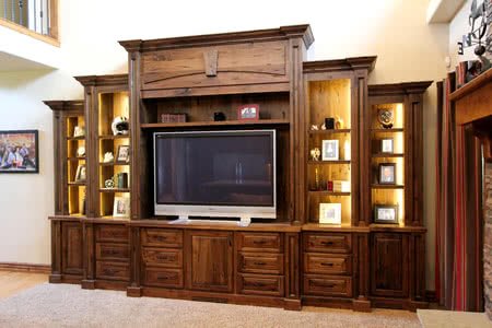 light up interior of cabinets hutch or