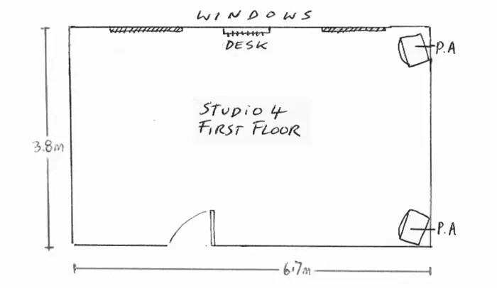 Studio 4 layout drawing