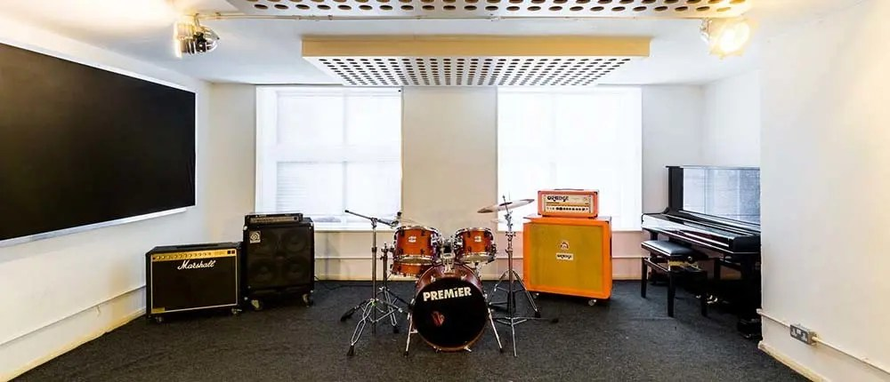 Rehearsal studio in London