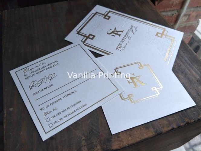 Squared Custom Wedding Invitations With