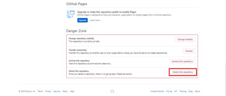 github-delete-repo-settings-dangerzone