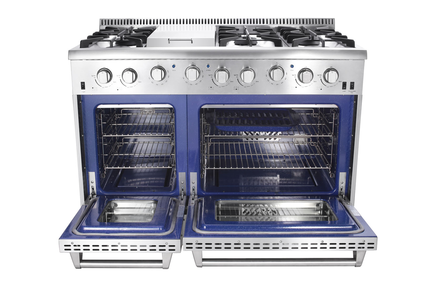 propane kitchen stove round rugs 48 in 6 7 cu ft double oven gas range with convection