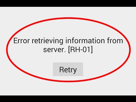 solve rh-01 error