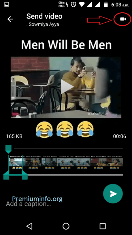 Convert Video to GIF in WhatsApp