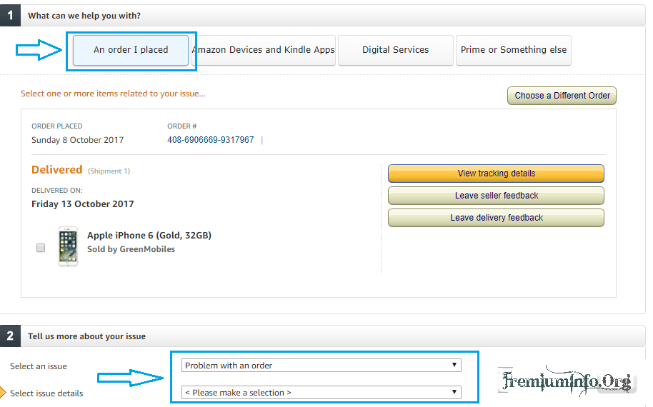 Here is Amazon's customer service phone number