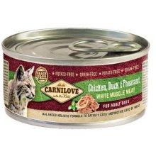 carnilove cat adult chicken, duck & pheasant 100g puszka karma mokra dla dorosłych kotów z kurczakiem, kaczką i bażantem
