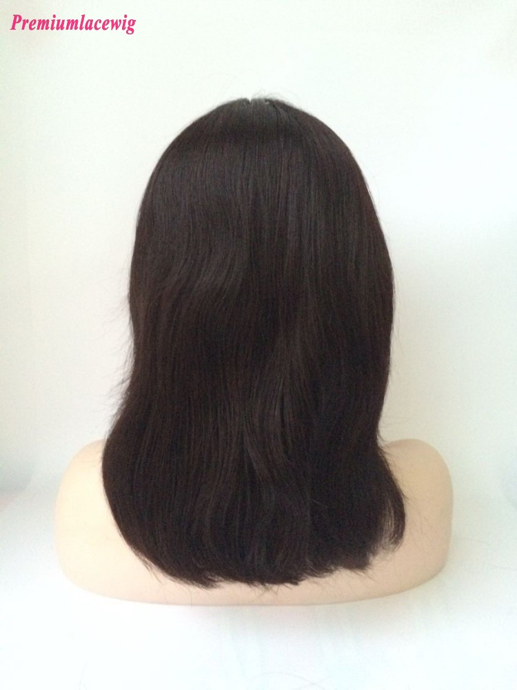 10inch Color 1 Straight Full Lace Wig Brazilian Virgin