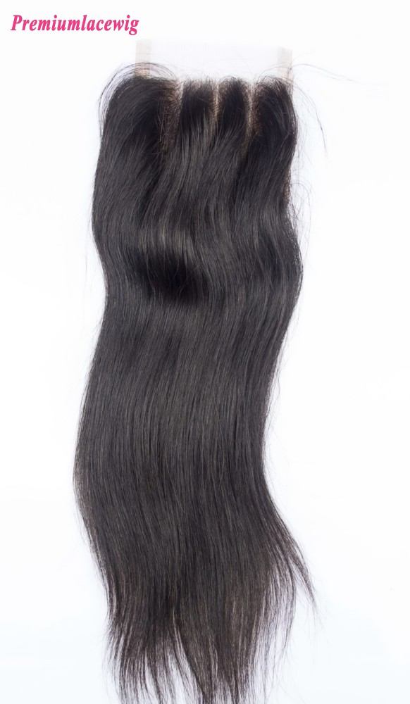 14inch Straight Lace Closure Free Part Peruvian Hair