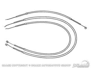 1964-1966 MUSTANG HEAT, TEMPERATURE & DEFROST CABLES
