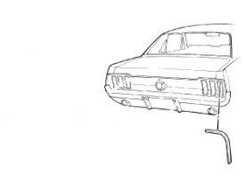 1967-1968 MUSTANG COUPE/CONV RH QUARTER EXT CAP TRIM