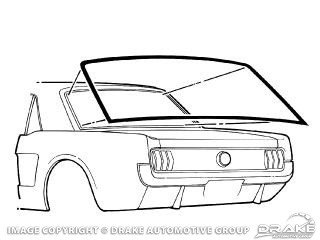 1964-1968 MUSTANG REAR WINDOW SEAL (COUPE