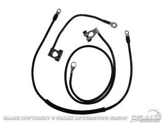 1967 MUSTANG CONCOURSE BATTERY CABLE SET 8 CYL