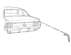 1967-1968 MUSTANG FASTBACK RH QUARTER EXT. CAP TRIM