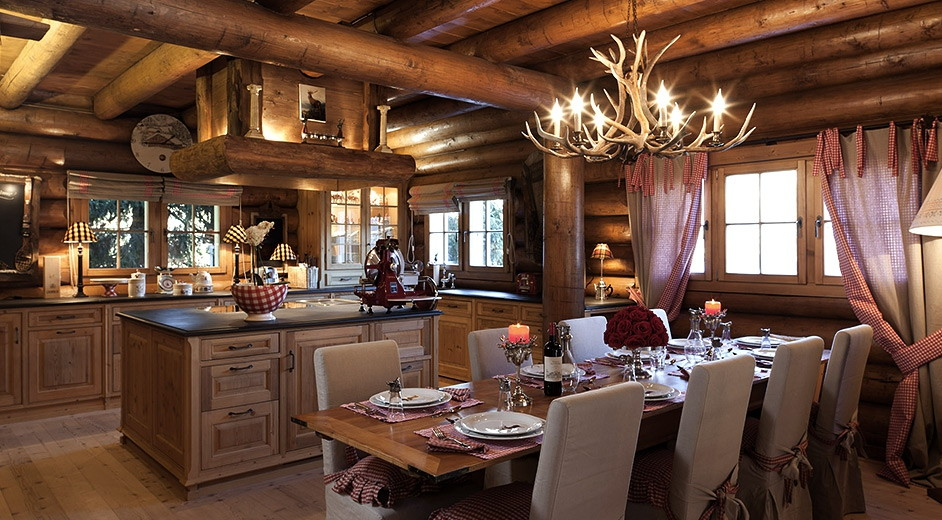 Luxury ski chalet for rent in Davos with lakeview near the