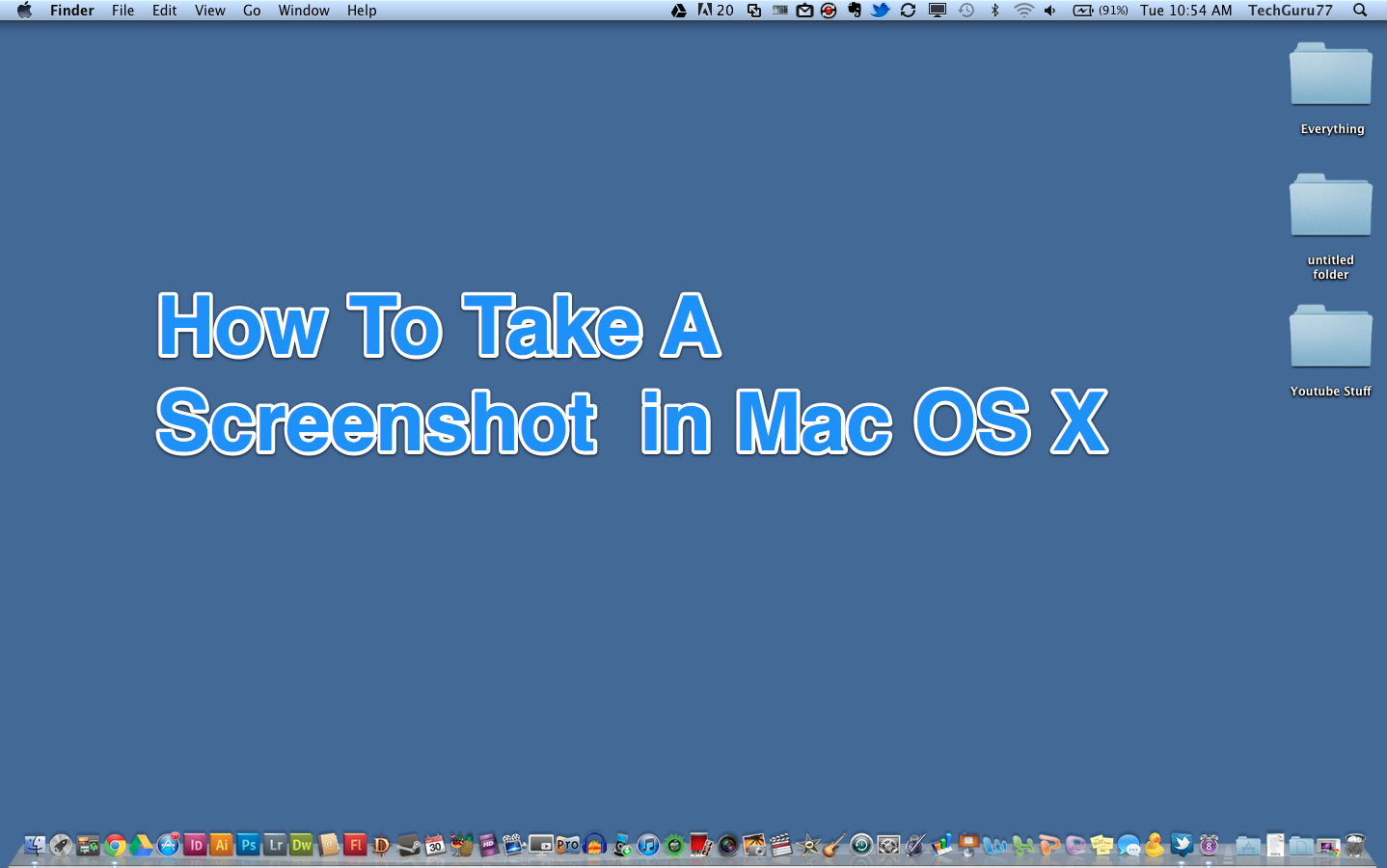 Defaults Writelereencapture Type Image_format Killall Systemuiserver How To  Take Screenshots In Mac Os X How To