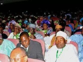 Delegates caught sleeping at the National Conference Plenary Session