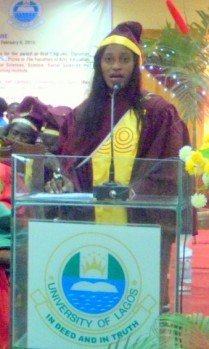 Ibok Favour Asuquo, Accounting, was overall best graduating student, finishing with a cumulative grade point average (CGPA) of 4.89