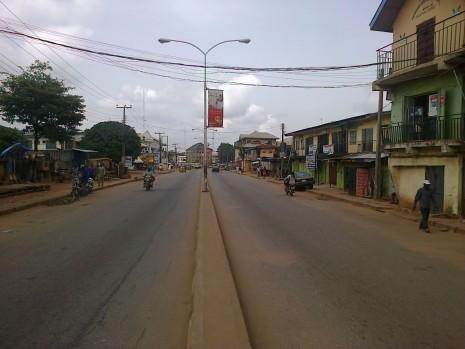 Ziks Avenue deserted following MASSOB sit-at-home order... Photo: Chukwuemerie Uduchukwu