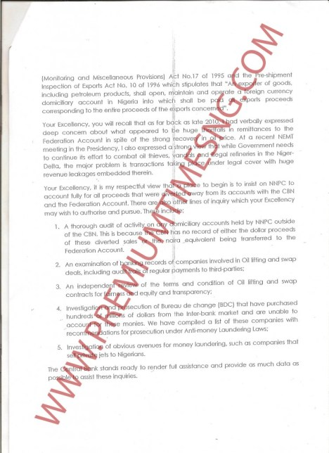 Sanusi's Letter to President Jonathan Page 2