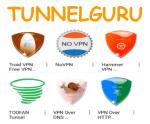Get Tunnelguru TroidVPN VPN over DNS Toofan Hammer VPN No VPN VPN over HTTPS Premium Account