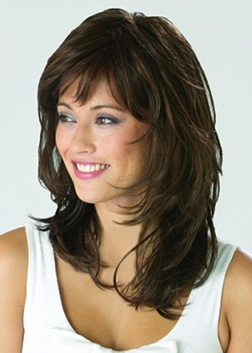 Long Wavy Brown Female Wig Luxury Ladies Wigs Shop