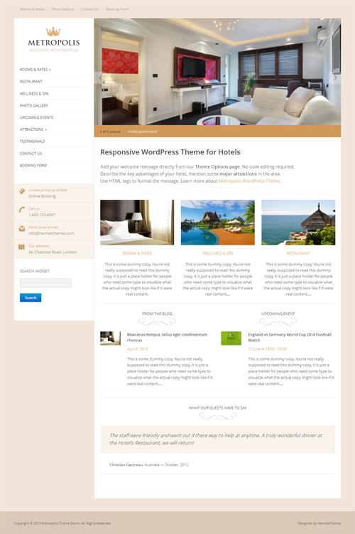 Hotel WordPress Hotel Metrópolis