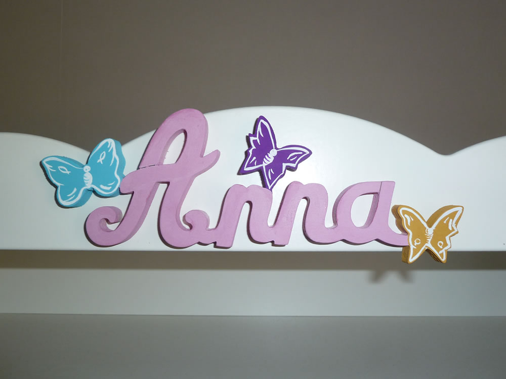 Lettres attaches Papillon  Prnoms en bois  Dcoration chambre enfant  Dcoration chambre de