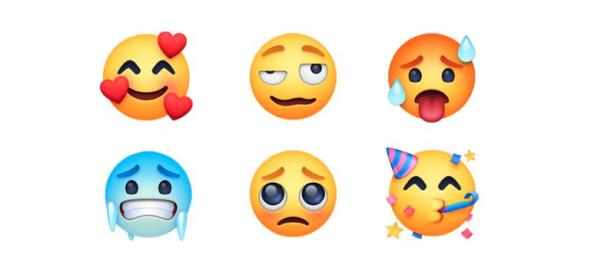 Facebook actualiza su catálogo de emojis con 157 nuevos elementos