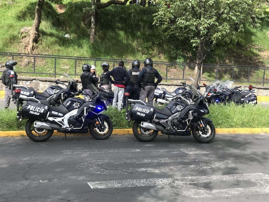 Toluca disminuye los tiempos de respuesta de la policía con la implementación de motocicletas