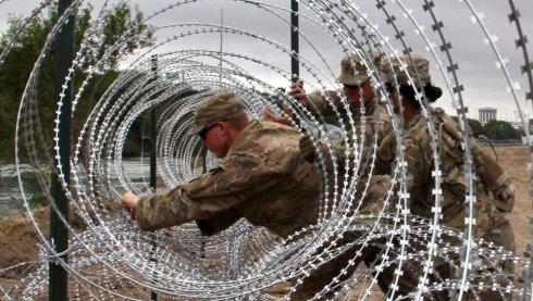 Las autoridades fronterizas de México y EE. UU. tuvieron un incidente el pasado 13 de abril. AFP/GETTY IMAGES