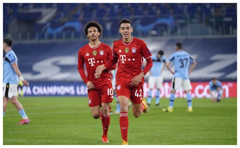 El jugador del Bayern Múnich que le anotó un gol a la Lazio se llama Jamal  Musiala y tiene 17 años. – Prensa Libre