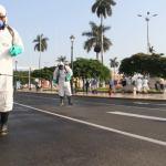Continúan desinfectando la ciudad para evitar propagación del COVID- 19