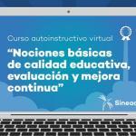 Lanzan curso virtual sobre evaluación y mejora continua en educación básica