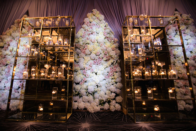 Romantic Reception Candles PreOwned Wedding Dresses