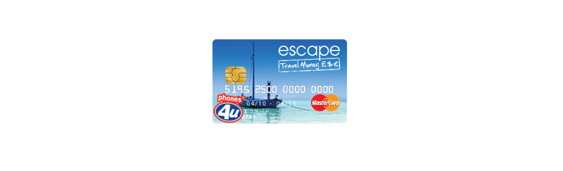 Escape Travel Money Prepaid Card