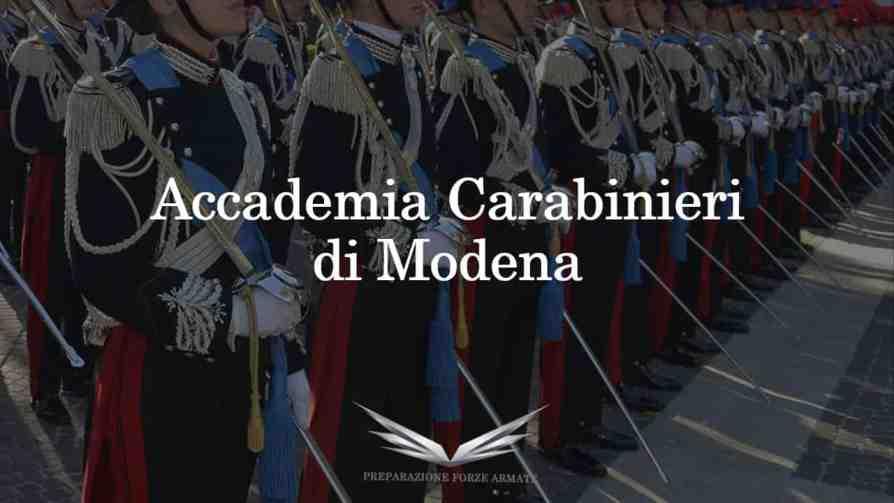 Accademia ufficiali carabinieri modena
