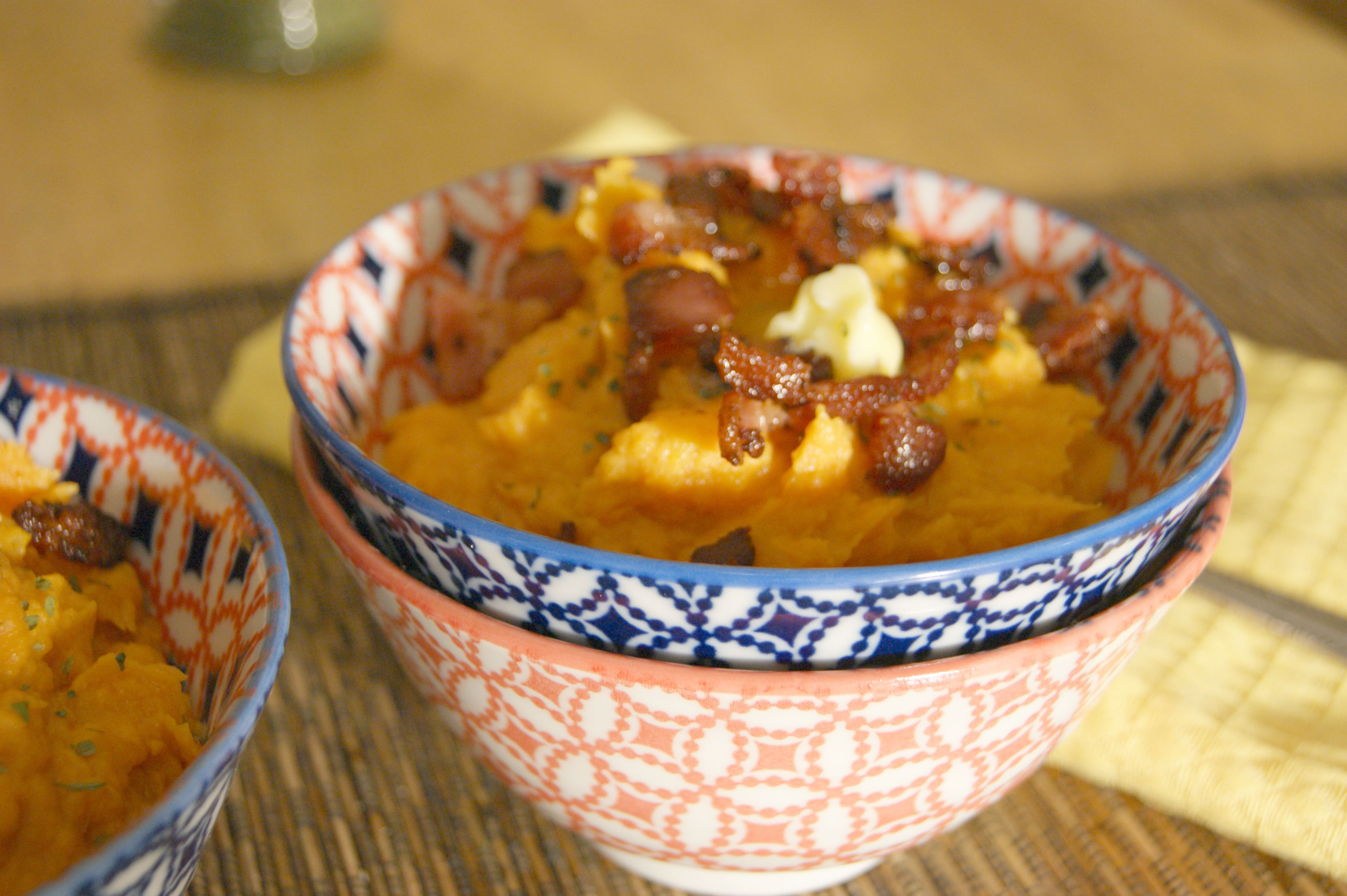 Easy Sweet Potato Mash with Bacon