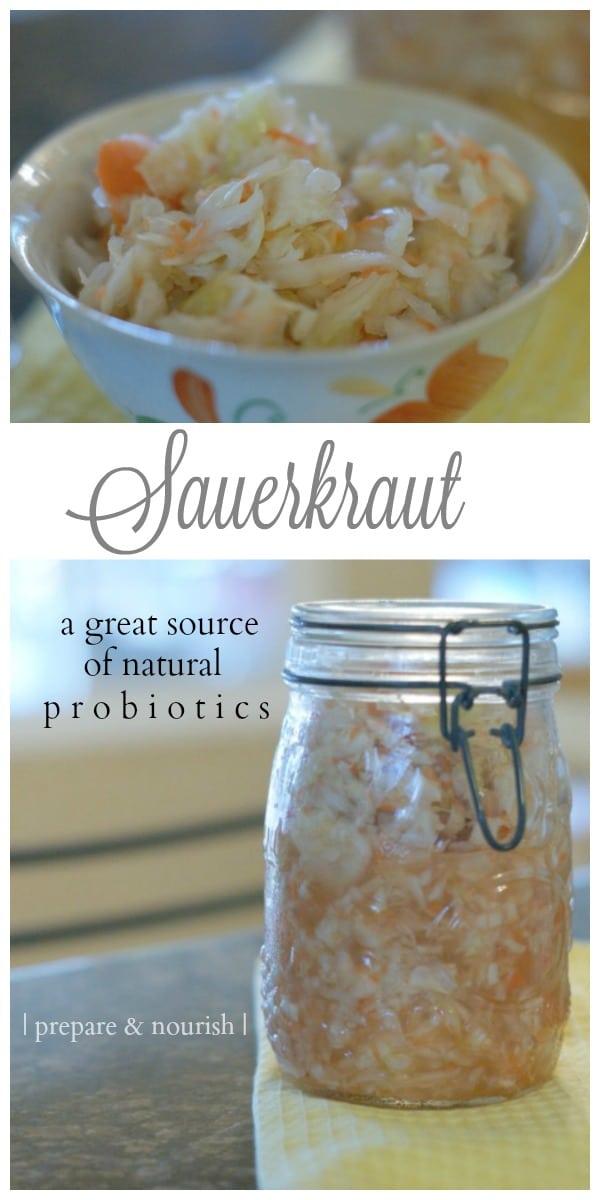 Simple Sauerkraut - #healthy #probiotics great for your gut health.