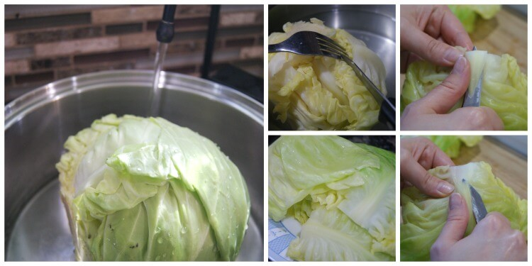 Classic Stuffed Cabbage Leaves - delicious and nutritious comfort food. Made with traditionally prepared rice and ground beef - this is heartwarming dish. #freezerfriendly