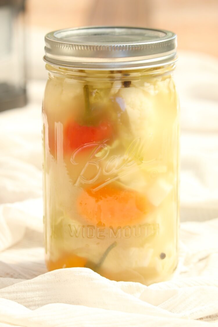 Easy Fermented Vegetable Medley - coarsely chopped veggies are fermented in unrefined salted brine.