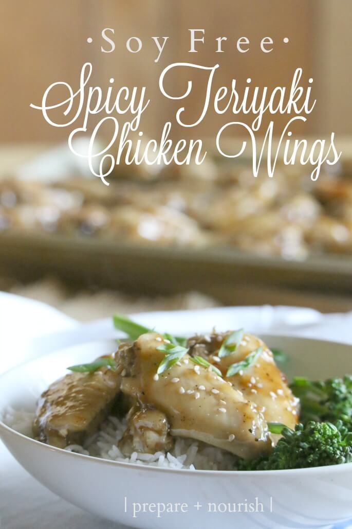 Spicy Teriyaki Chicken Wings (Soy Free) - enjoy your beloved oriental dish sans MSG and other nasties.
