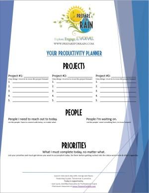 PFR Productivity Planner
