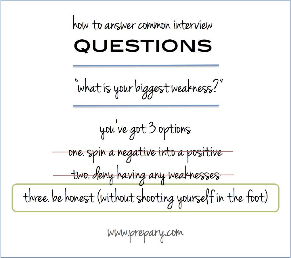 "Answer The Common Interview Question ""what Is Your Biggest"