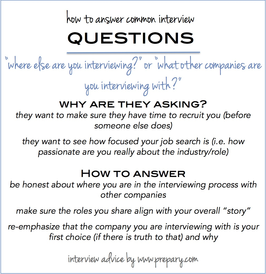 Common Interview Questions Where Else Are You