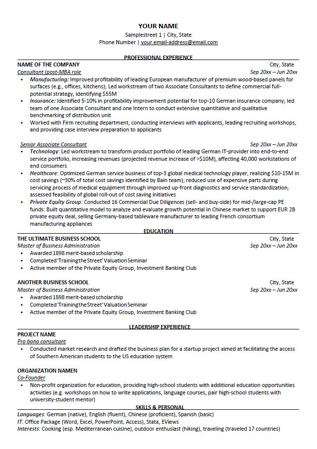A4 paper size 8.27×11.69 +bleed. Consulting Cv Template Free Download Preplounge Com