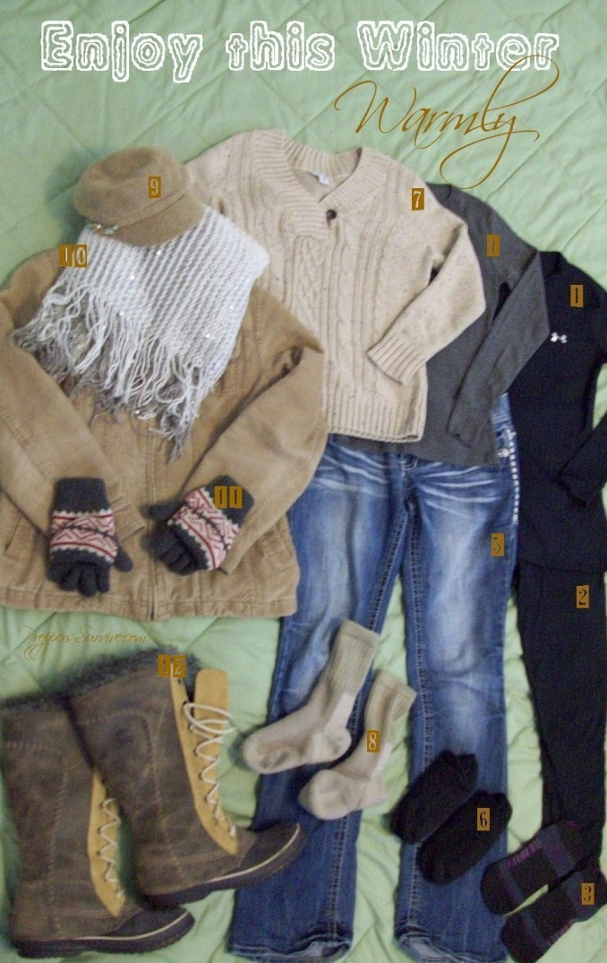 How to layer clothes for warmth!