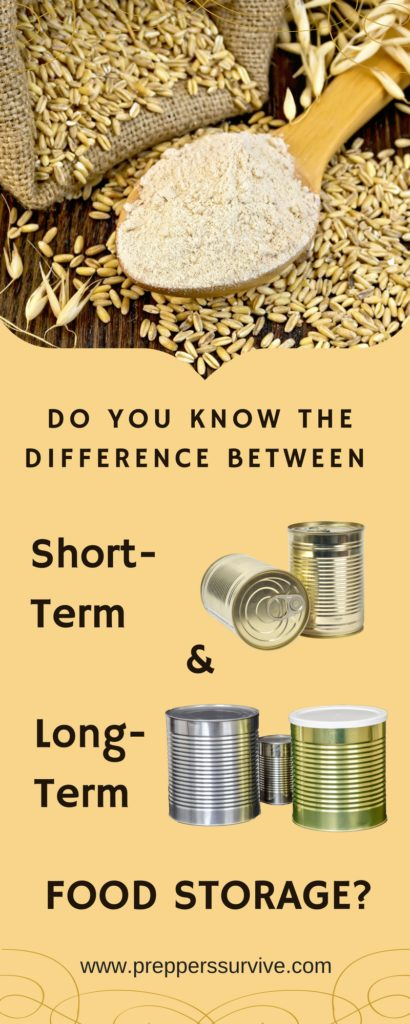 What is the difference between having a short term & long term food supply?